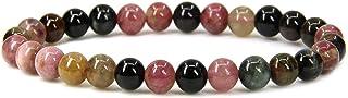 手工宝石半宝石 6mm 圆形珠子弹力手链 17.78 cm 中性
