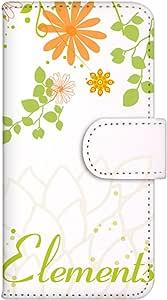 智能手机壳 手册式 对应全部机型 印刷手册 wn-365top 套 手册 花朵图案 UV印刷 壳WN-PR061413-MX AQUOS Xx2 502SH B款