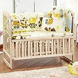 华婴 实木无漆婴儿床 多功能新生儿床可摇 宝宝床儿童床 婴幼儿成长床BB游戏床(高度3档可调/侧边栏打开可与大人床合并/可变书桌/摇床/儿童沙发/带轮可移动)适合0-12岁儿童使用