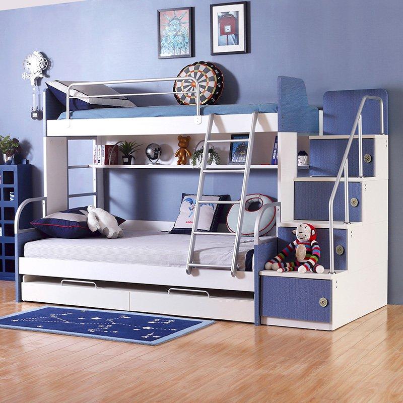 AOK多喜爱W8A122-12-Q牛仔系列子母床高低儿童床1200mm*2000mm