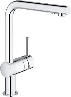GROHE 高仪 Minta 厨房水龙头-单把水槽龙头 30274000,360°旋转,单孔安装,镀铬