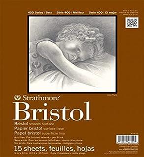 "Strathmore 400 系列 Bristol,2 层光滑,胶带 白色 14""x17"" STR-475-18"