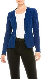女士商务办公室经典折叠领长袖单扣西装外套 J1762