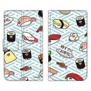 时已经寿司。 保护壳薄款印花翻盖寿司图案手机保护壳翻盖式适用于所有机型  寿司総柄A 3_ Galaxy S8 SCV36