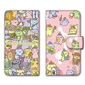 Miriko猫 印花翻盖 迷你猫咪图案壳 手册式WN-LC381065-MX 1_ iPhoneX みっちりねこマーチA