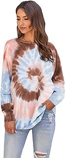 sisiyer 女式扎染长袖套头运动衫