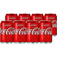 Cocacola 可口可乐 可口可乐 (Coca-Cola) 经典原味汽水330ml*8 整箱(英国进口)