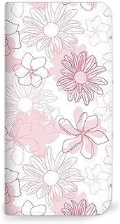 Mitas 智能手机壳 笔记本式 花朵 ピンク(ベルトなし) 4_AQUOS sense (SHV40)