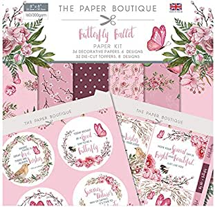 The Paper Boutique 蝴蝶芭蕾纸套装