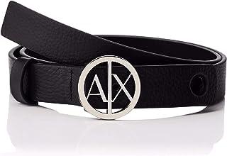 Armani Exchange 女士圆圈标志腰带
