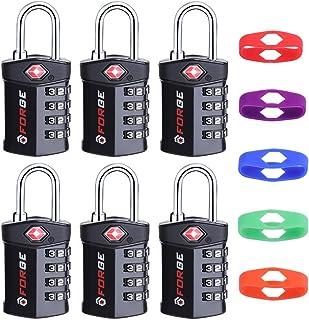 4 位 TSA 认可行李锁,改变自己的颜色和组合,检查指示灯,合金主体 6 包 One_Size
