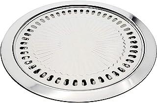 Saim 不锈钢烤盘,圆形烤盘,家用烤箱,户外烧烤盘,适用于任何能够产生热量烧烤烤烤盘的炉