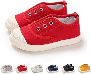 女童帆布运动鞋一脚蹬婴儿男孩休闲时尚船鞋(幼儿/小童)