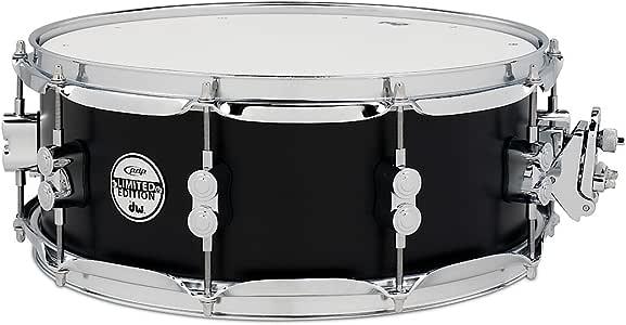 Pacific Drums PDSX5514BRBL 5.5 英寸 x 14 英寸桦木色鼓,黑色镀铬硬件