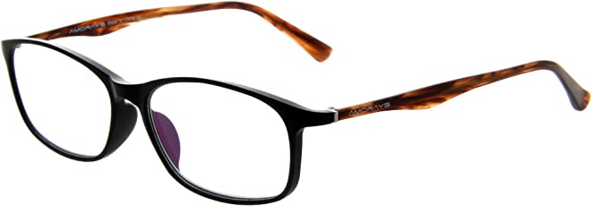Amorays高档老花镜进口品牌中老年男女通用舒适便携时尚轻盈高清防疲劳耐磨老花眼镜 AM501-BN-100 BN茶色100 55