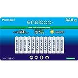 Panasonic BK-4MCCA12SA Eneloop AAA 2100 周期鎳氫預充電可充電電池,12 支裝