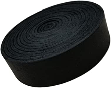 "皮带。 非常适合手工制作,皮条供您使用。 4-5 盎司 1/6"" 厚,1.91cm 宽和 182.88cm 长 TOFL Quality Products 出品 黑色 1/6 thick 3/4 wide strapping"