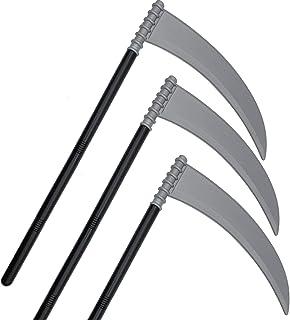 紫红色 3 件装万圣节Skeleteen Grey Death Scythe Staff - 死神服装配件武器镰刀道具