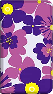 智能手机壳 手册式 对应全部机型 薄型印刷手册 cw-296top 套 手册 花朵图案 超薄 轻量 UV印刷 壳WN-PR073779-M ARROWS ef FJL21 图案D