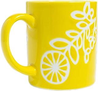 陶瓷杯 水杯 咖啡 牛奶 果汁 茶 柔和 花朵 HASAMI YAKI 手工制作 日本制造 8.7盎司(约238.7克) (黄色)