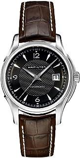 Hamilton 男式自动 Jazzmaster 黑色表盘不锈钢手表