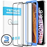 iPhone X Screen Protector, TETHYS iPhone X Tempered Glass Screen Protector (3 Pack + Guidance Frame) For Apple iPhone X 2017 Compatible w/most Protective Cases (TT000021) 3 Pack