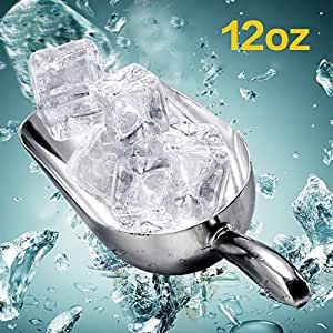 多功能冰勺 食品铲 铝合金 冰刮刀 食物 自助铲 糖果铲 工具 冰勺 单色 12oz
