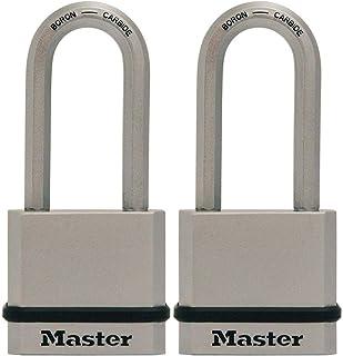 "Master Lock M530XKADLHCCSEN 1-3/4"" 宽镁实心钢体挂锁 带导风钩,5.08cm 锁扣间隙,钥匙扣相似 Keyed Alike M530XTLHCCSEN"