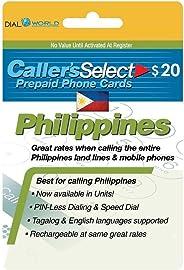 $20 呼叫者精选菲律宾电话卡,为您拨打菲律宾廉价电话。 可获得*多 360 个单位致电菲律宾线和 280 个单位电话。