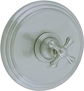 Cifial 277.606.031 Asbury 压力平衡淋浴阀装饰带金属十字手柄,未涂漆黄铜