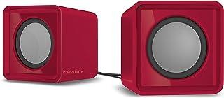 Speedlink INT-SL-810004-RD Twoxo USB 供电紧凑立方体立体声扬声器 - 红色