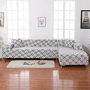 TOPCHANCES 优质 2 件 3 沙发沙发长沙发套沙发套带 2 件枕套,适合狗狗、儿童、宠物躺椅、爱沙 5.08 厘米