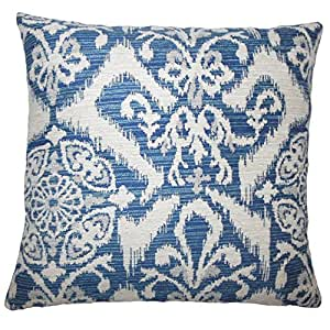 "The Pillow Collection Ingalill Indigo Ikat Sham 靛蓝色 Queen/20"" x 30"" QUEEN-BAR-MER-M9855-INDIGO-P100"