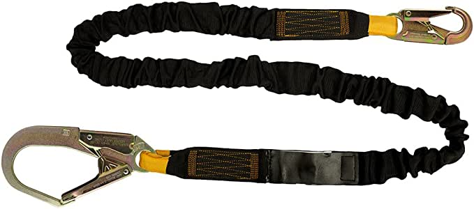 Fusion Climb 182.88 厘米 x 5.08 厘米内部减震保护秋季*挂绳带钢扣式渔杆 23kN 黑色