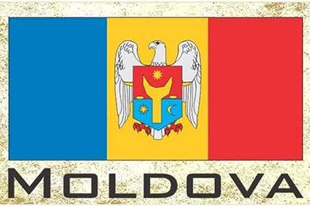 国旗冰箱冰箱冰箱磁铁 - 欧洲集团 2 Country: Moldova