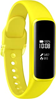 Samsung 三星 Galaxy Fit e 健身手环,黄色,带蓝牙,心率监测器和睡眠分析
