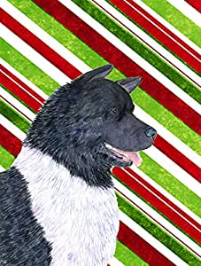 Akita Candy Cane Holiday Christmas Flag 多色 大