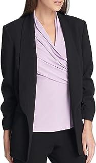 DKNY 女式纹理褶饰袖外套