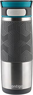 Contigo 康迪克 AUTOSEAL Transit 不锈钢旅行杯,16盎司/约454ml,不锈钢加蓝色