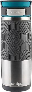 Contigo AUTOSEAL Transit 不銹鋼旅行杯,453.59 克,極地白色帶灰色玉 Stainless Steel with Blue 16盎司 72339