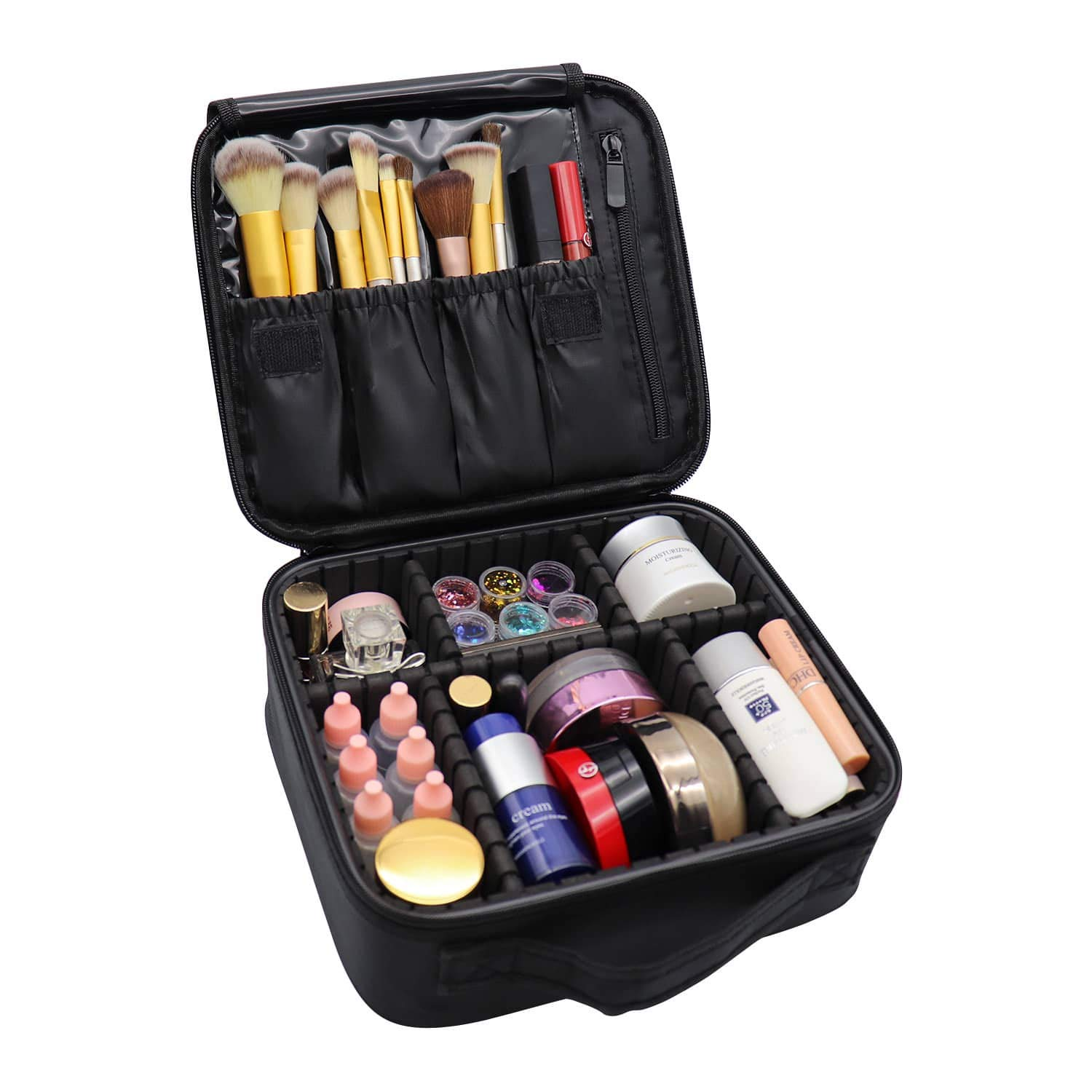 ゼンハイザーゼンハイザーCX 3.00赤耳ヘッドフォン(メーカーが販売終了) 、大容量の収納袋、化粧品、ジュエリー、アクセサリー、デジタル黒