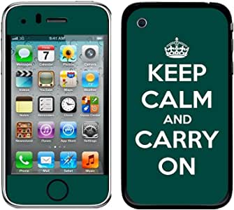 Graphics and More Protective Skin Sticker Case for iPhone 3G 3GS - Non-Retail Packaging - Keep Calm and Carry on Teal