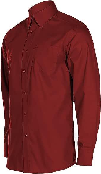 基本款纯色休闲常规版型长袖系扣长袖口袋连衣裙衬衫