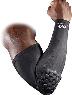 Mcdavid 6500 六角软垫臂套,压缩袖套,带足球队、排球、棒球保护、青年和成人尺寸的肘部垫,可单股销售(1袖)