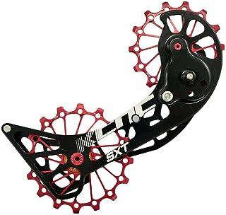 KCNC SXT MTB 自行车超大滑轮笼 适合禧玛诺 M9000 和 M8000 , 红色, SK1961