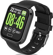 HR 健身追踪器手表与运动智能手表和计步器活动追踪器和心率*血氧*监测手表防水触摸屏智能表带男女通用