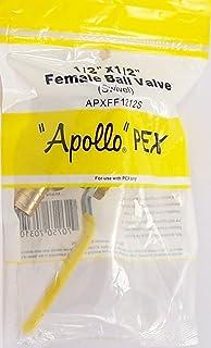 Apollo PEX 1.27cm x 1.27cm 母球阀 - 旋转 APXFF1212S