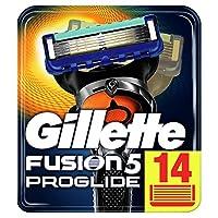 Gillette 男士 Fusion5 ProGlide 剃须刀 Briefkastenfähige Verpackung 14 Stück (briefkastenfähig) 14