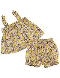 Anna Nicola 花朵图案 吊带衫&马桶套装 AN10-54 E29 日本制造 紫色 95