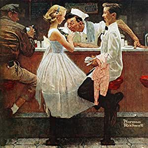 "Marmont Hill Norman Rockwell Prints on Canvas ""After The Prom"" Art Print, 18 by 18"""